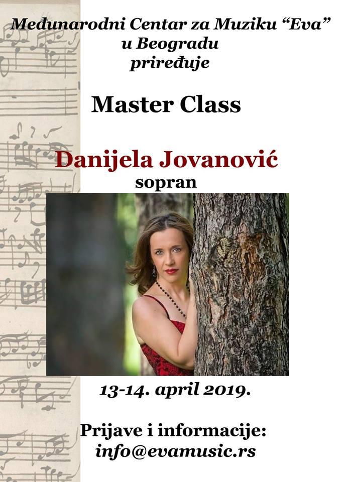 Danijela Jovanović Master class