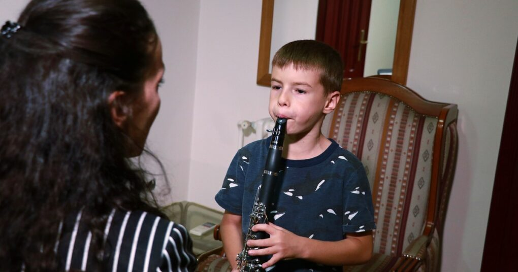 "Clarinet lessons in private music school ""Eva"" Music with ABRSM program of learning"