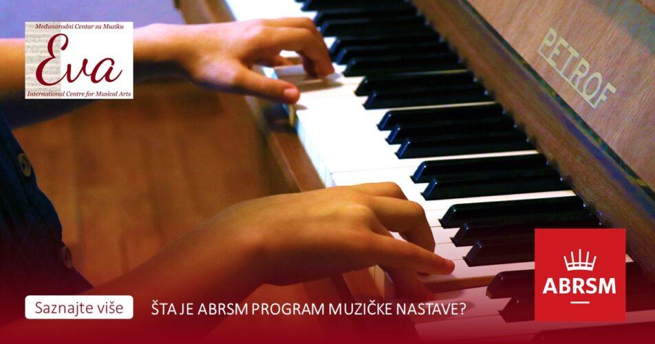 učenje instrumenata po abrsm programu nastave u privatnoj muzičkoj školi Eva music