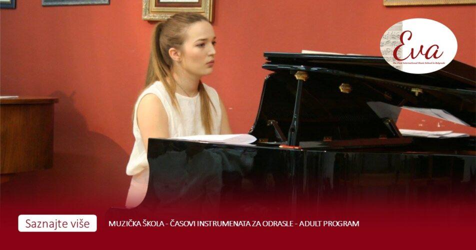 Muzička škola - časovi instrumenata za odrasle - Adult program