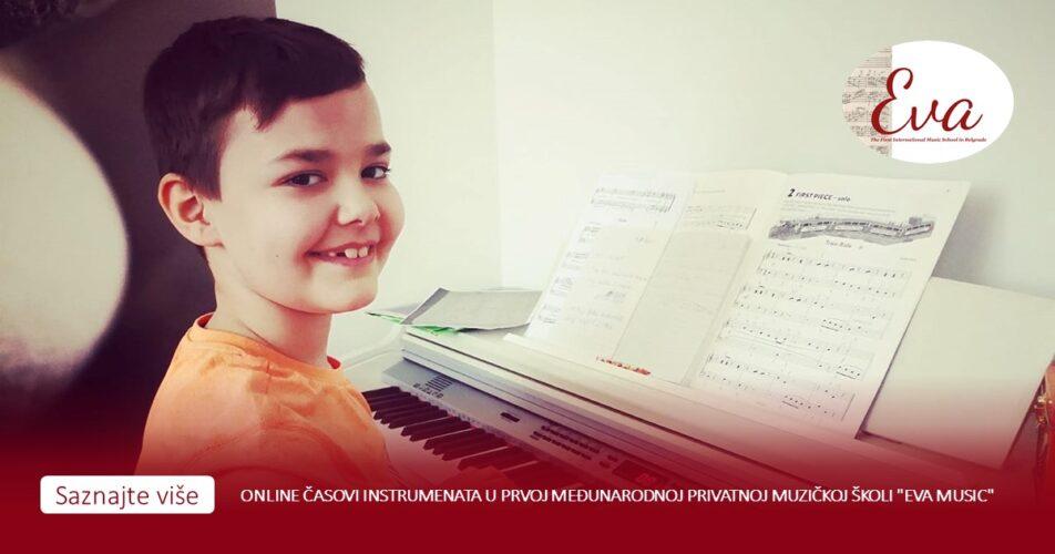 """Online časovi instrumenata u prvoj međunarodnoj privatnoj muzičkoj školi """"Eva Music"""""""