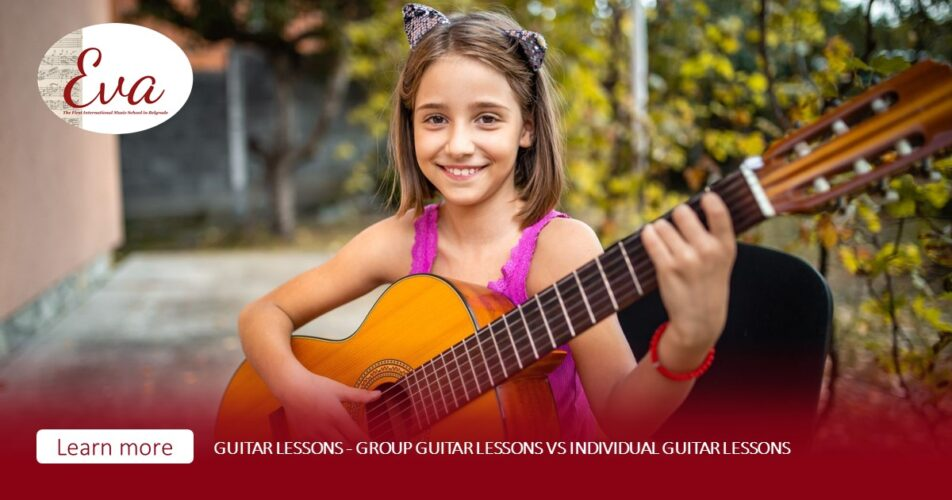 Guitar lessons - group guitar lessons vs individual guitar lessons