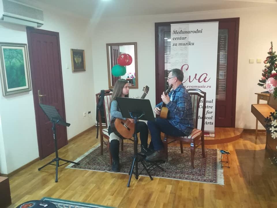 """Aktivno učešće na masterklasu u muzičkoj školi """"Eva Music"""" sa profesorom Aleksandrom Hadži Đorđevićem"""